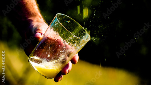 Throw Asturian cider (Asturias / Spain)