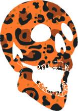 Skull Jaguar Pattern Tshirt Print And Embroidery Graphic Design Vector Art