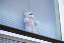 Teddy Bear In Window For Child...