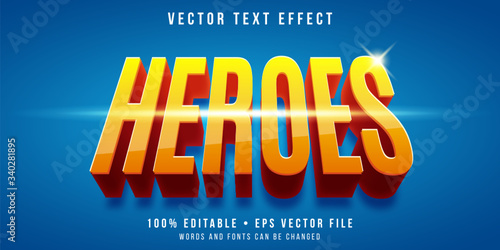 Foto Editable text effect - super hero style