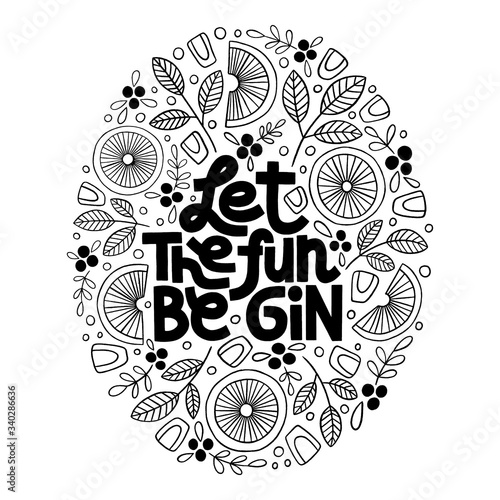 Let the fun be gin Canvas Print