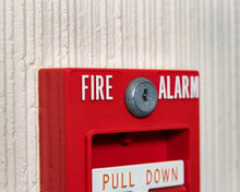 Closeup Of Fire Alarm Pull Sta...