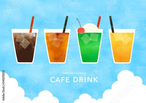 Obraz na plátně 喫茶店の冷たいドリンク夏