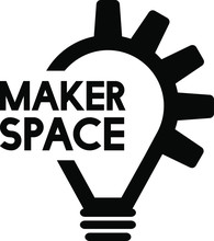 Maker Space Logo Icon Vector. Maker Lightbulb And Gear Logo Concept. Business Icon , Co Working Space Logo.