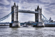 Low Angle View Of Tower Bridge...