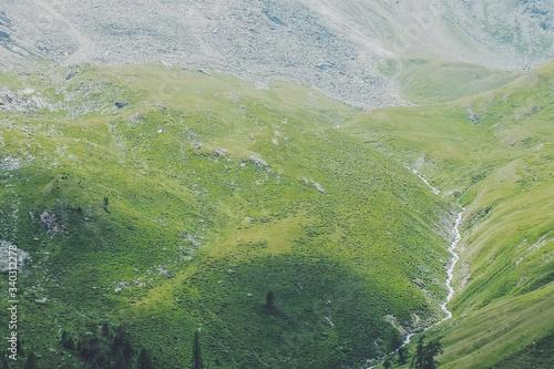 Fototapeta High Angle View Of Green Landscape obraz na płótnie