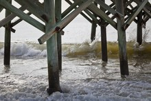 Underneath Part Of A Pier With...