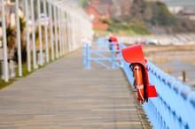 Promenade Along The Seafront At Carrickfergus, County Antrim, Northern Ireland