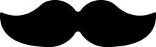 Black Mustache Icon Isolated O...