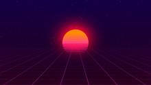 Retro Background. 80s Style. F...