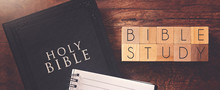 Bible Study In Block Letters O...