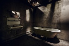 Abandoned Bathroom With A Sink...