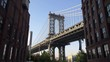Manhattan Bridge from Dumbo Brooklyn in New York in 4K Slow motion 60fps