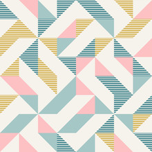 Abstract Geometry In Retro Col...