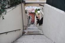 Footpath Amidst Houses