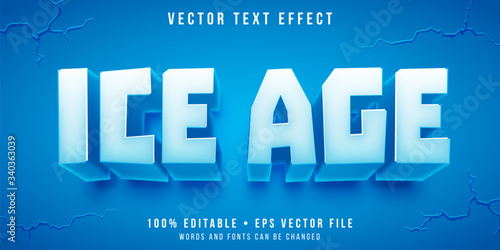 Obraz Editable text effect - ice block style - fototapety do salonu