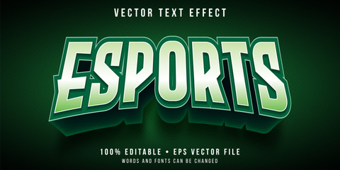 Editable text effect - e-sports team logo style