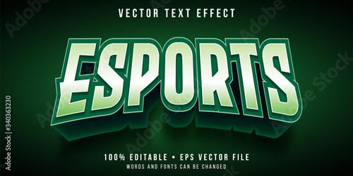Fotografie, Tablou Editable text effect - e-sports team logo style