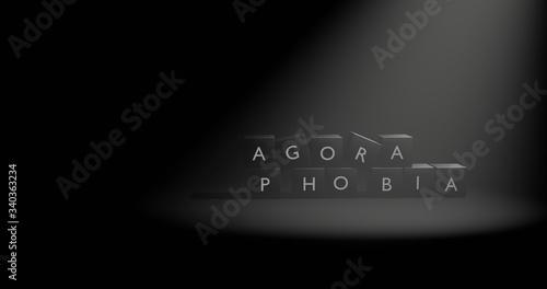 Agoraphobia Letter at Black Box with Spotlight Canvas Print