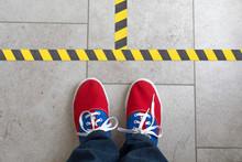 Markierung Auf Dem Fußboden