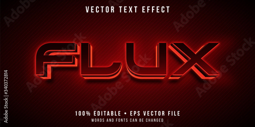 Editable text effect - red neon style Fototapete