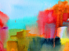 Watercolor Abstract Bright Col...
