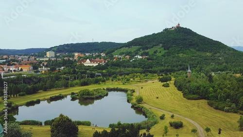 Fototapeta High Angle View Of Landscape Against Sky obraz na płótnie