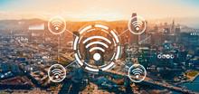 Wifi Theme With Downtown San F...