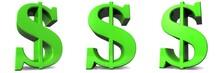Green Dollar Sign Symbol Icon 3d Rendering