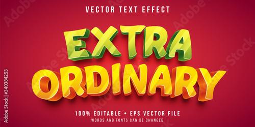 Fotografie, Tablou Editable text effect - shiny bold text style