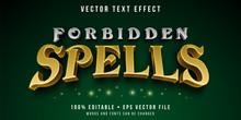 Editable Text Effect - Magic Spells Style