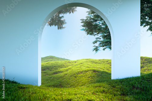 Photo Arch Or Door To heaven Meadow