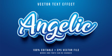 Editable Text Effect - Angelic Text Style