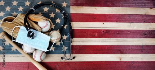 Fototapeta Coronavirus affecting American baseball season