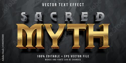 Fotomural Editable text effect - golden myth style