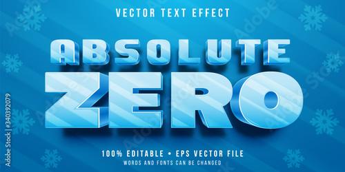 Carta da parati Editable text effect - frozen letters style