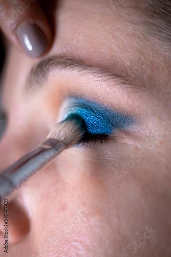 Photo Maquilhagem Azul