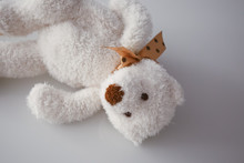 Soft White Toys In The Form Of...