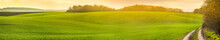 Panoramic View Of Farmland In ...