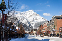 Banff In The Winter With Mount...