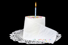 Birthday Candle In Roll Of Toi...
