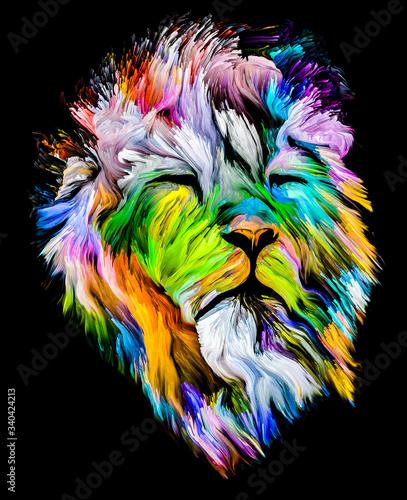 Photo Lion of Color