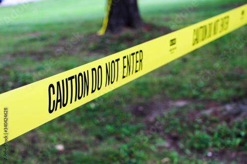 Obraz na plátně Caution Tape At Park