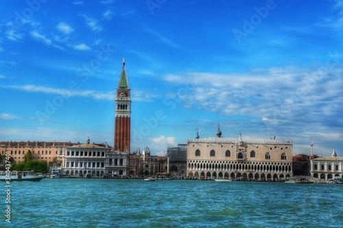 Papel de parede San Marco Campanile By Doges Palace Against Sky