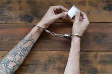 Arrested Drug Dealer Hands In ...