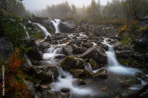 Obraz Stream Flowing Through Rocks - fototapety do salonu