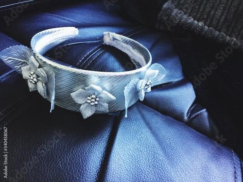 Valokuva Close-up Of Headband On Sofa
