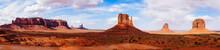 Panoramic Shot Of Rock Formations In Desert