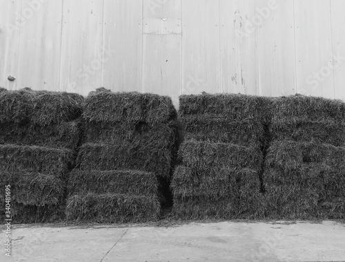 Fotografie, Tablou Stack Of Hay Bales