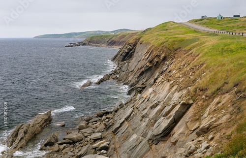 Coastal Cabot Trail road on the Gulf of St Lawrence Cape Breton Island Nova Scot Fototapeta